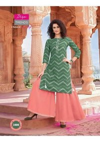 BANDHANI PRINT KURTI WITH PLAZZO,PANT,SKIRT & SHARARA
