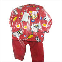Kids Printed Full Sleeves Cotton Suit
