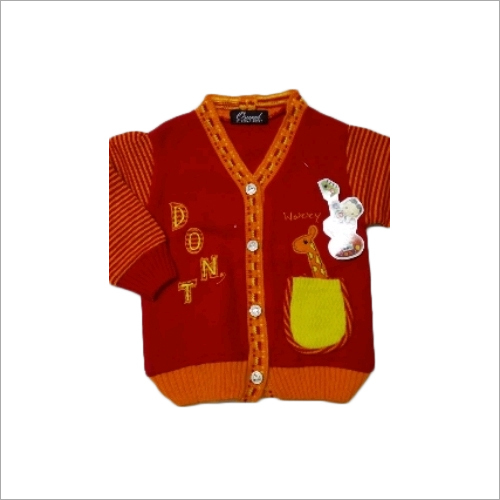 Kids Printed Woolen Sweater