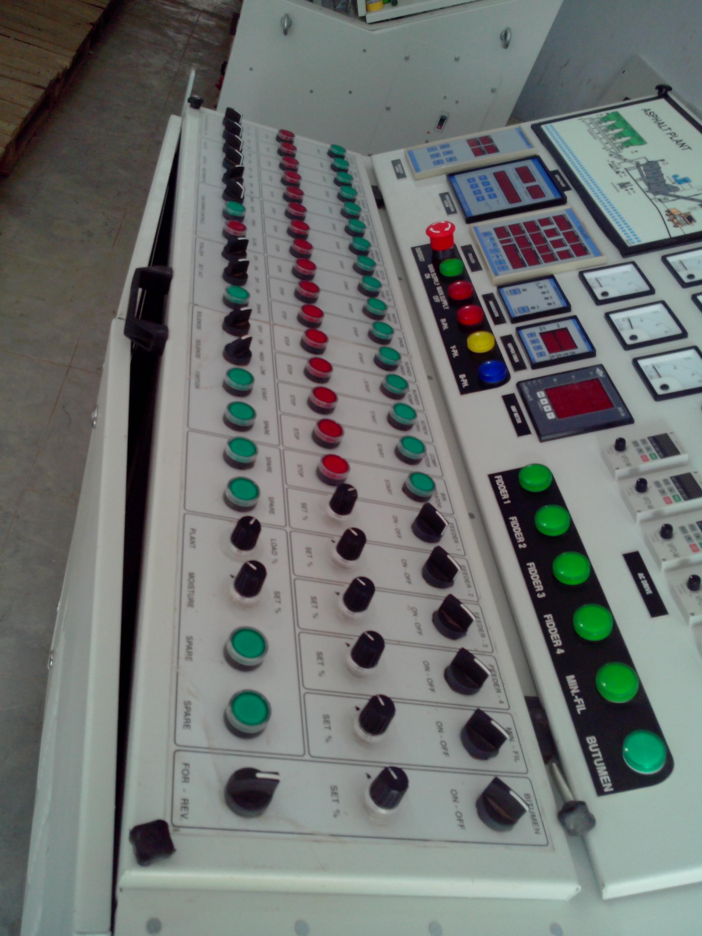 Asphalt Drum Mix Plant Control Panel