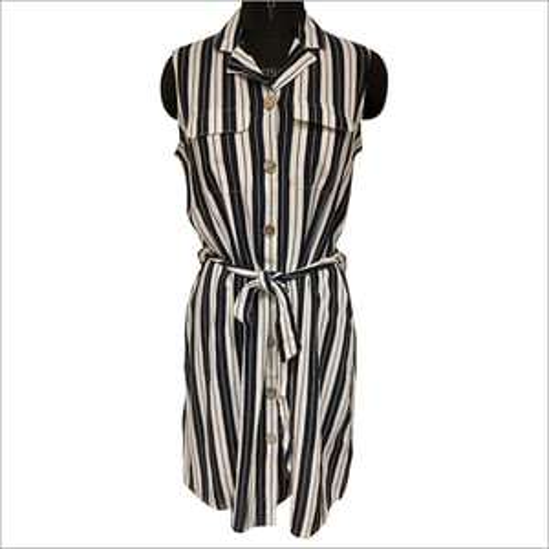 Front Button One Piece Dress