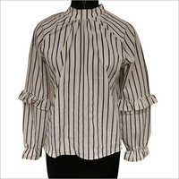 Ladies Striped Casual Top