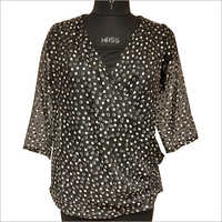 Ladies Printed Partywear Top