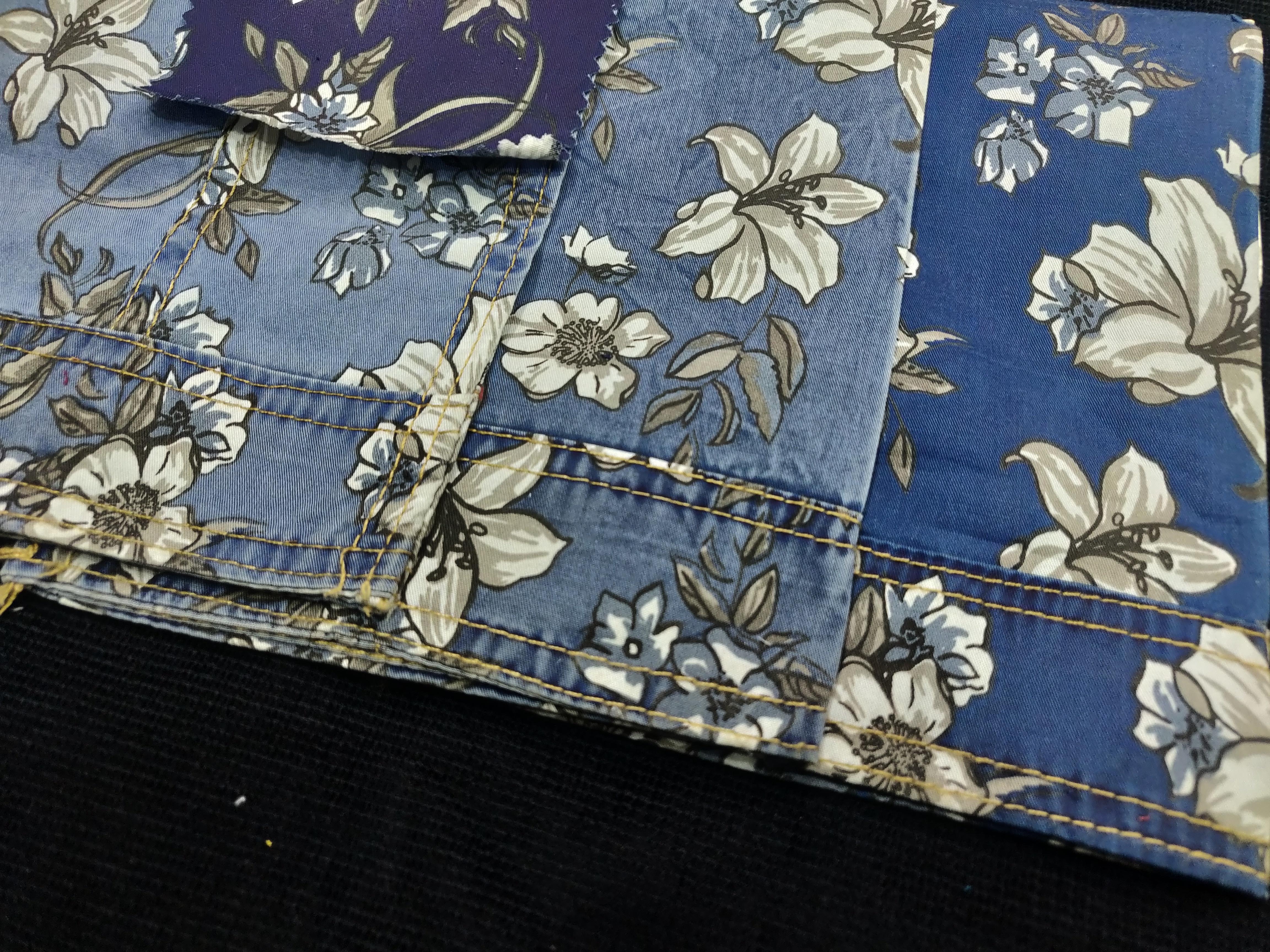Indigo Printed Shirting Fabric