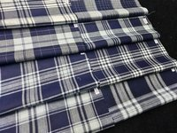INDIGO CHECKS SHIRITNG FABRIC