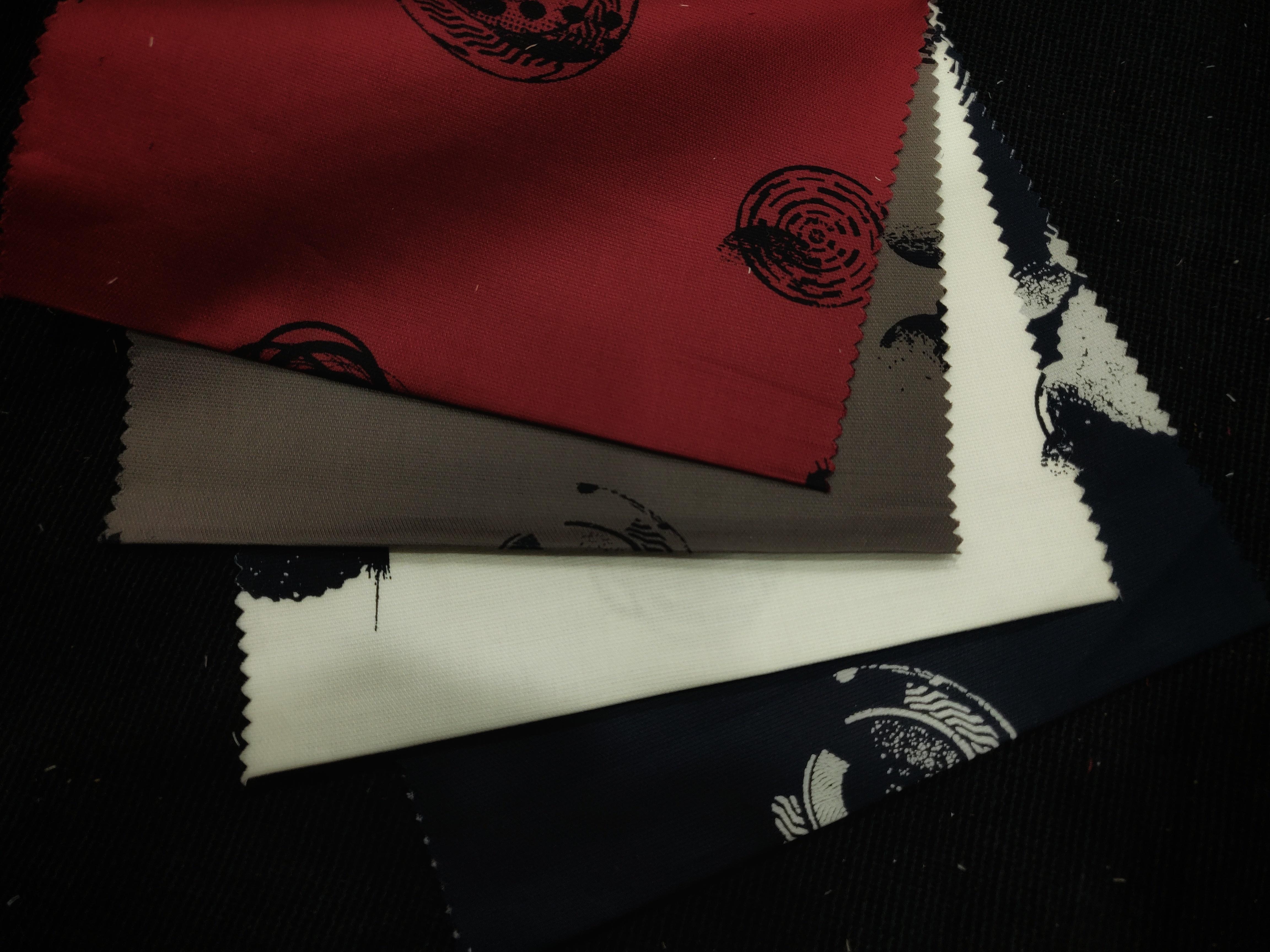 Flock Printed Cotton Shirting Fabric