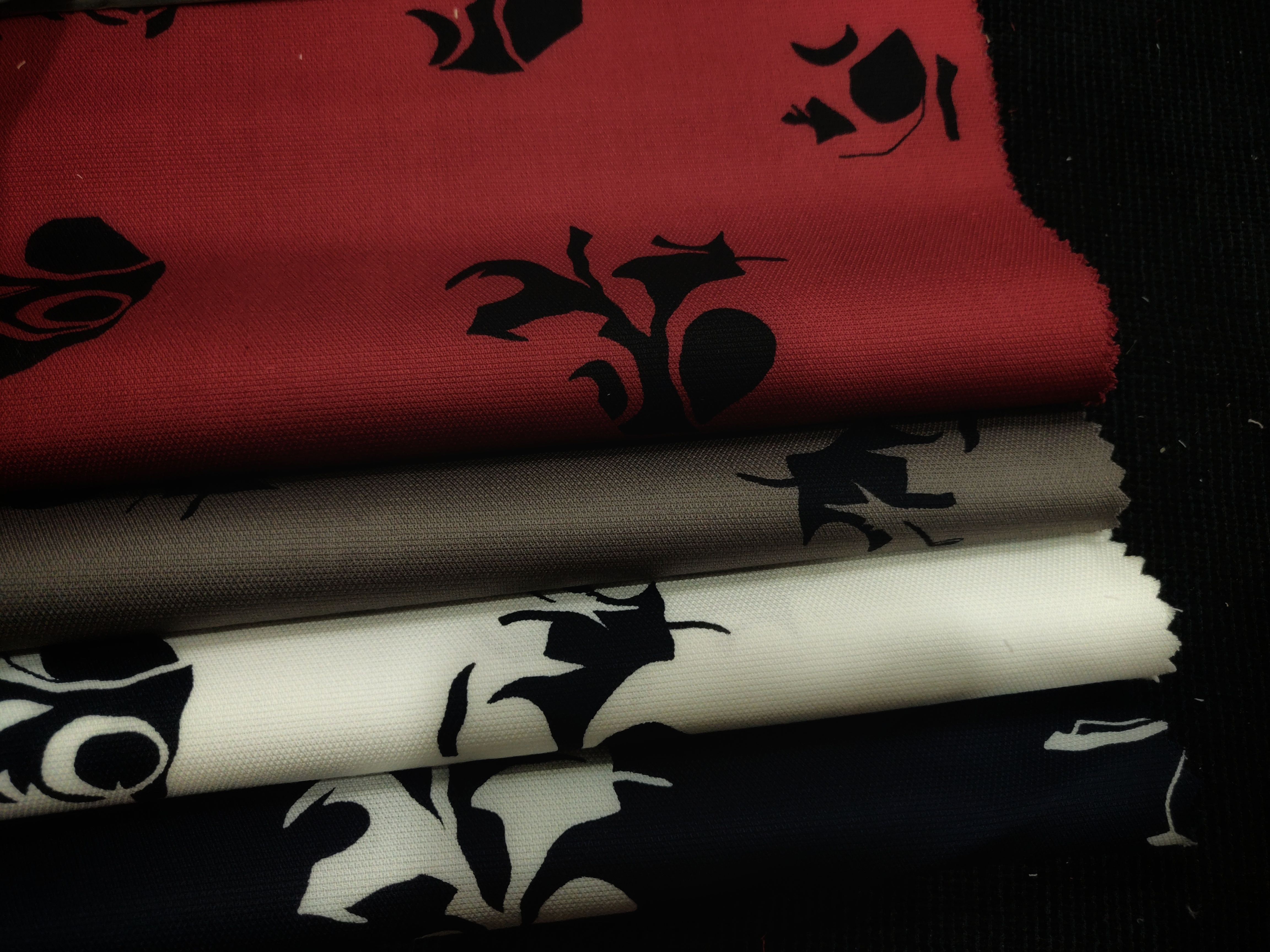 Flock Printed Cotton Shirting Fabric