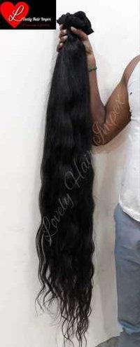 Long Human Hair Wig