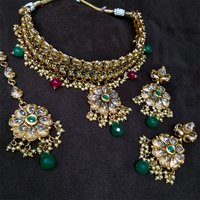 Imitation Jewellery Antique AD Necklace Set