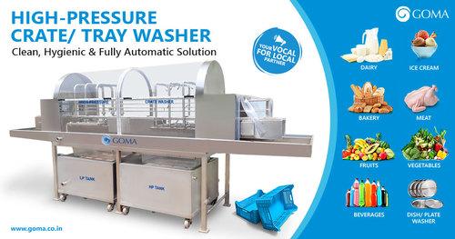 High Pressure Crate Washer