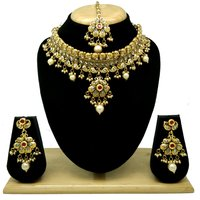 Immitation Jewellery Antique Necklace Set