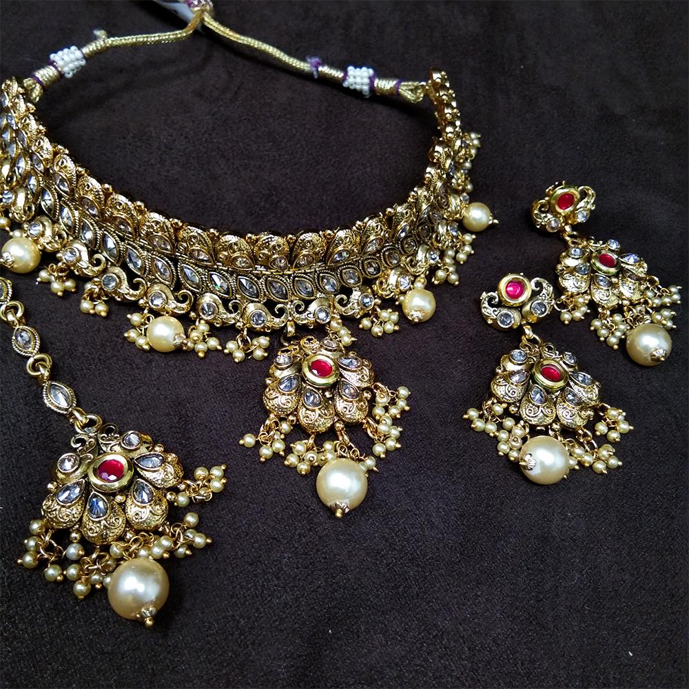 Immitation Jewellery Antique Necklace Set