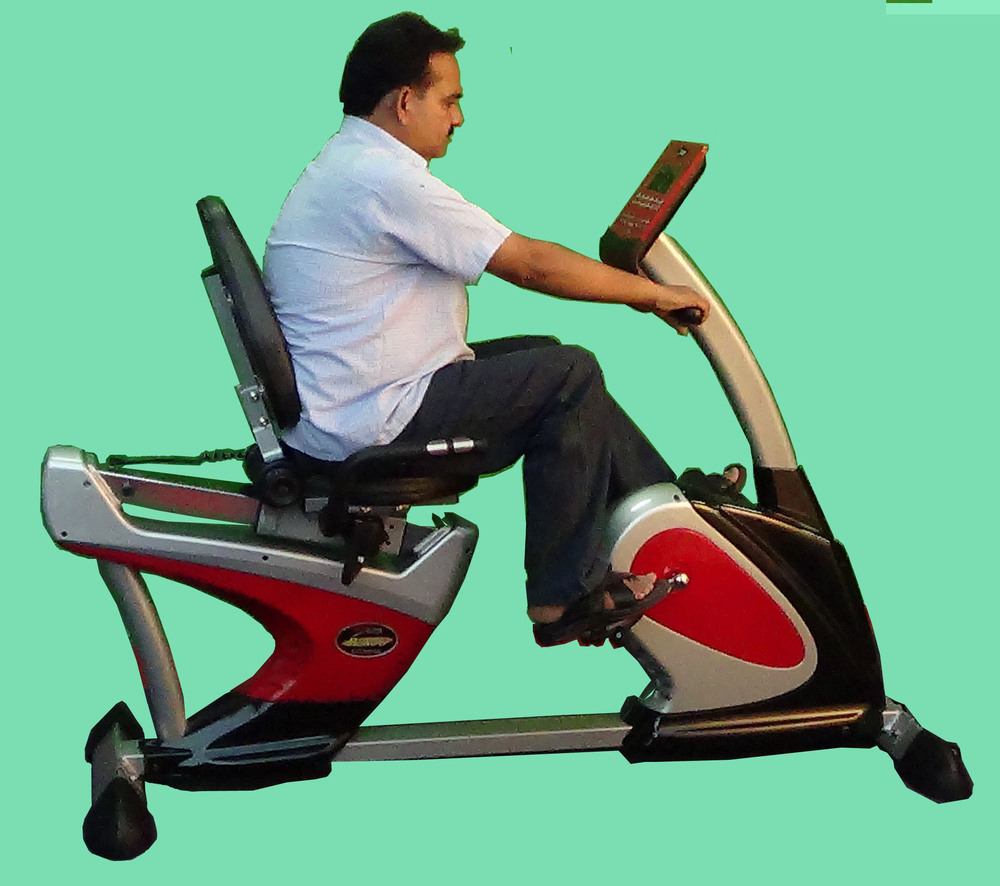 Cycle Ergociser With Back-support Semi Recumbent Bike