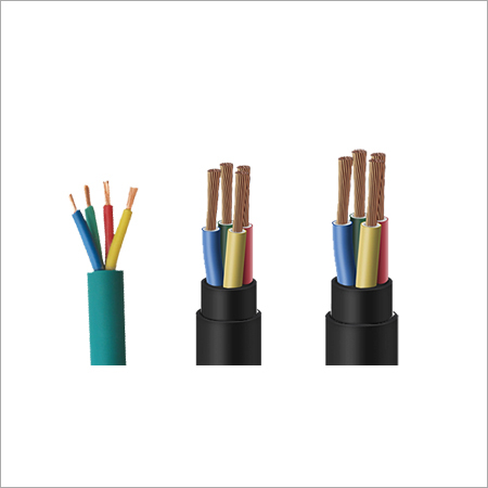 Rubber 4 Core Submersible Round Cable