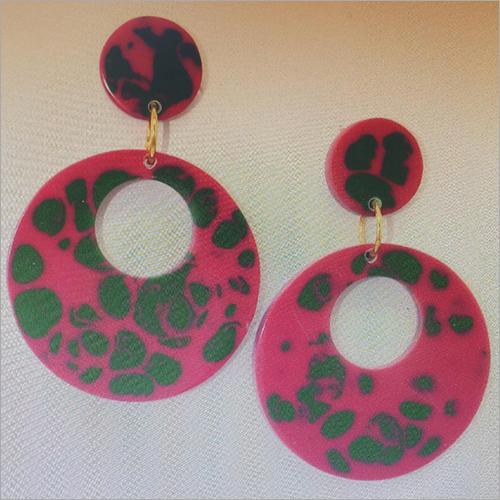 Printed Resin Earrings