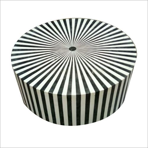 Black And White Modern Bone Inlay Table