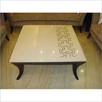 Bone Inlay Floral Design Coffee Table