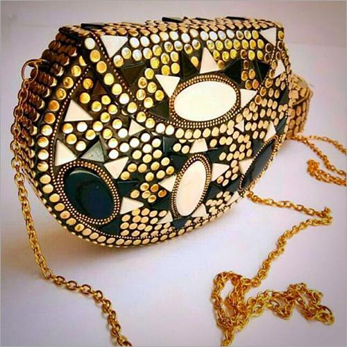 Ethnic Metal Clutch Bag