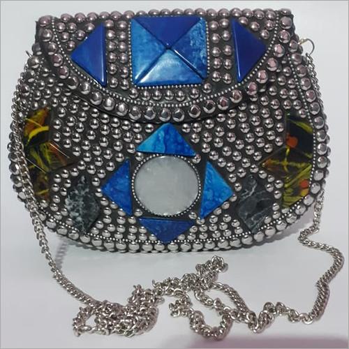Resin Brass Alloy Clutch Bag