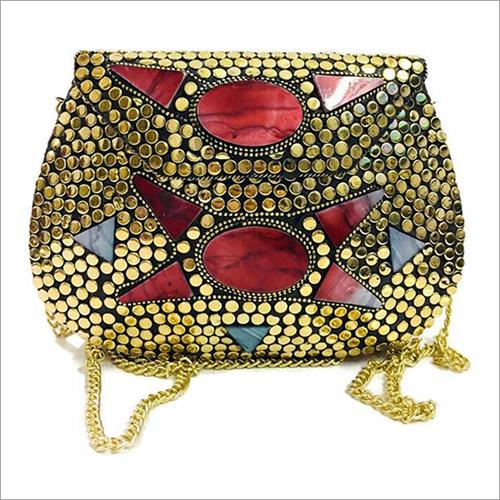 Shoulder Firoza Stone Handmade Clutch Bag