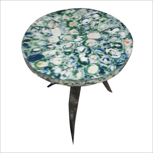 Round Resin Horn Table