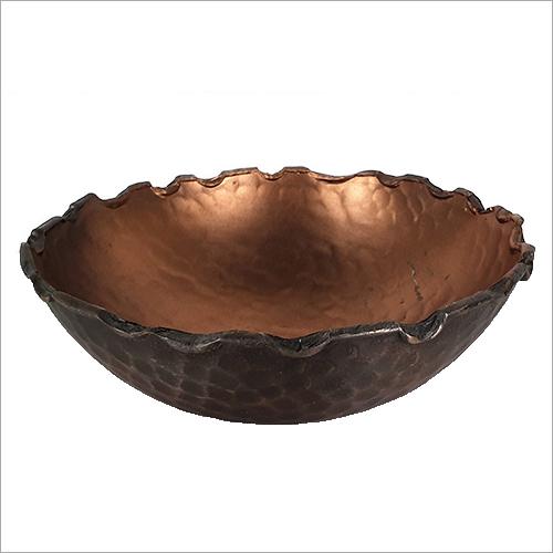 Copper Hammered Potpourri Bowl