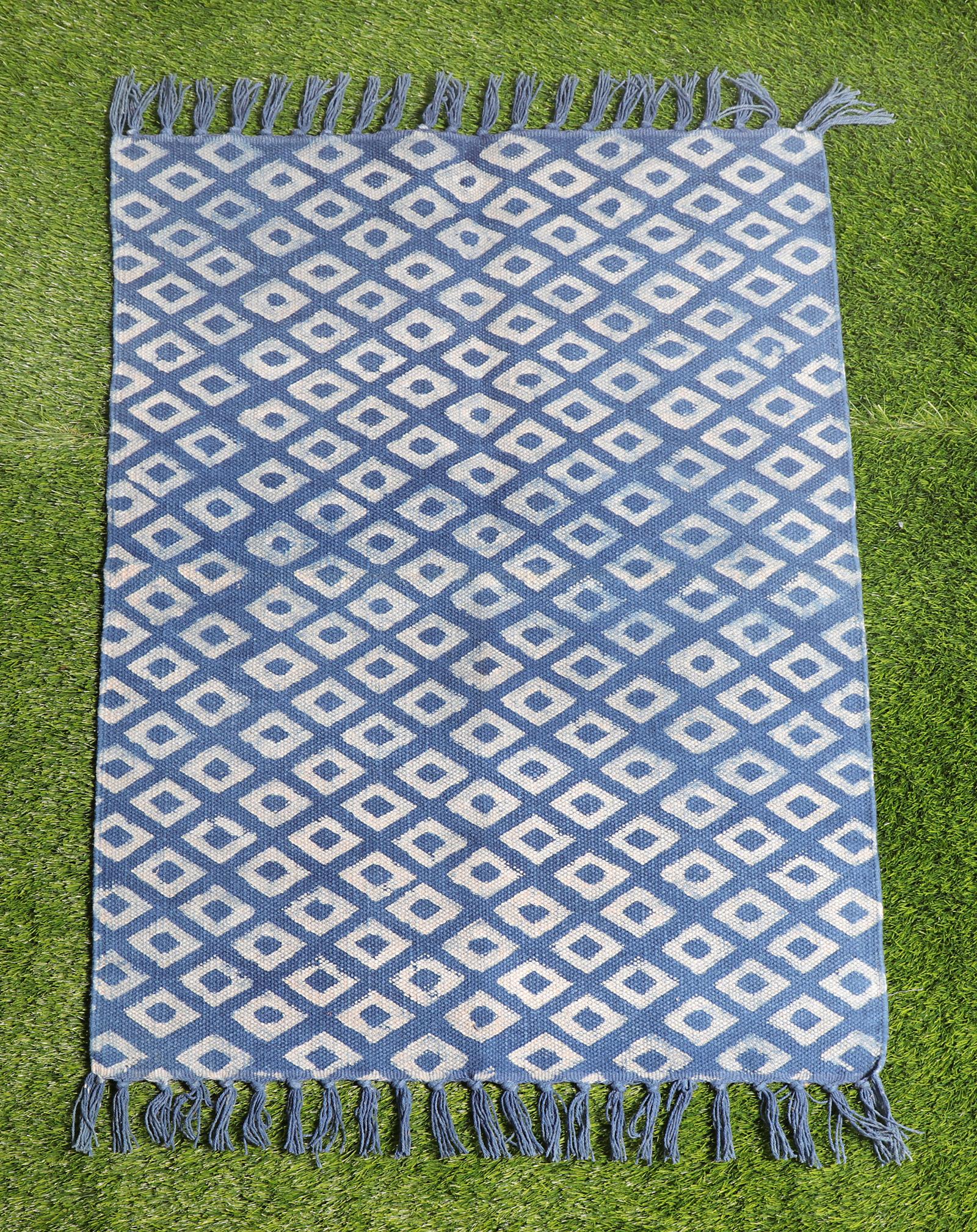 Indigo Handblock Cotton Dari