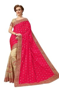 Embroidery With Stone Work Saree