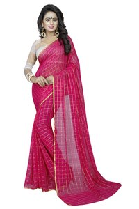 Chiffon Saree With Attached Blouse