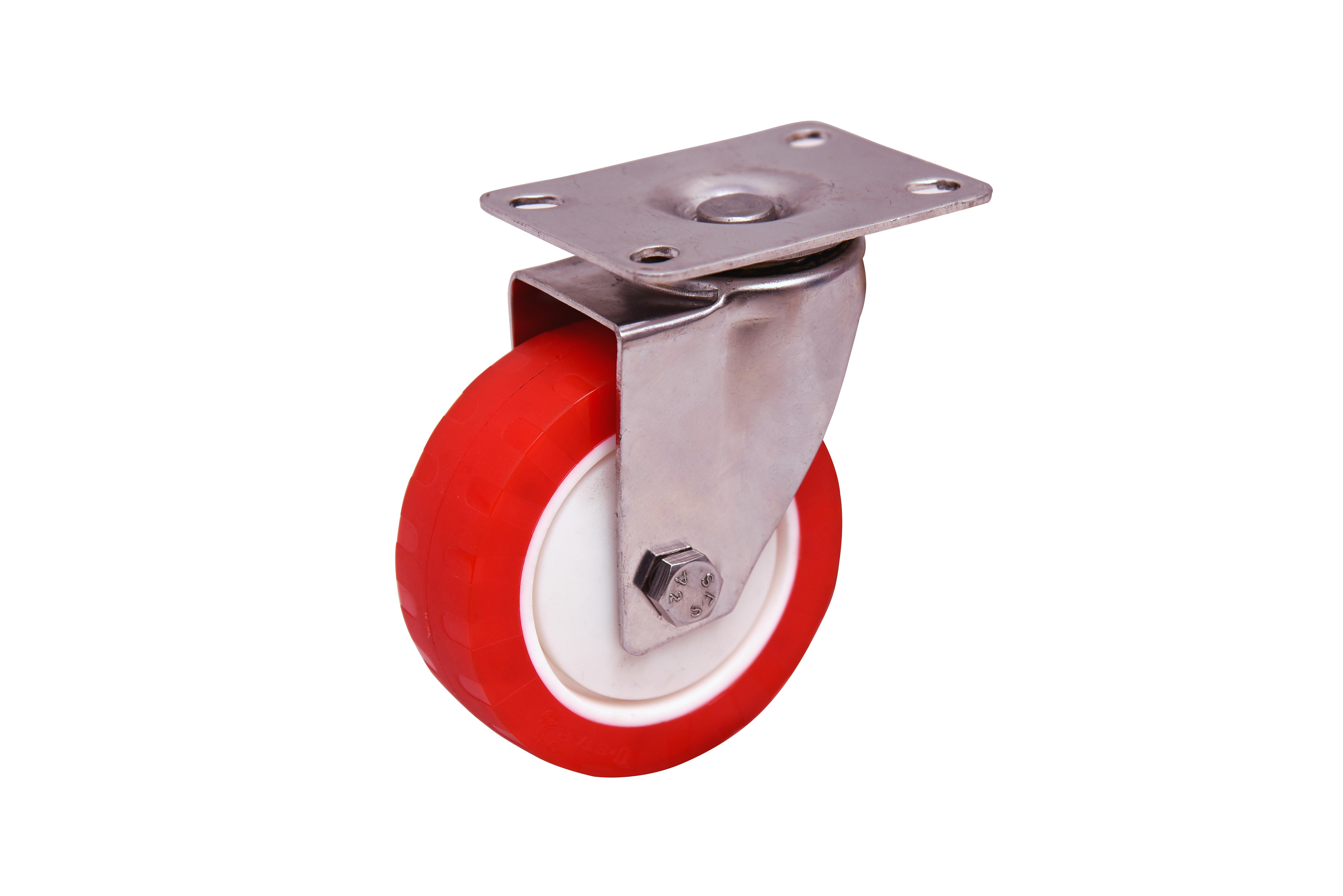 heavy duty 100 mm pu caster  wheels