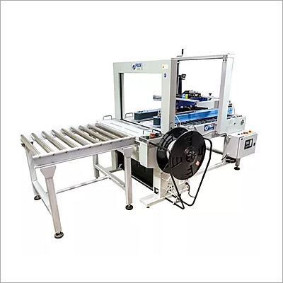 Automatic Sealing And Strapping Combo Machine