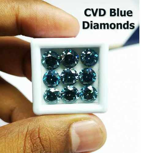 Cvd Blue Diamond VS Round Brilliant Cut TYPE2A