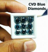 Cvd Blue Diamond VS Round Brilliant Cut TYPE2A