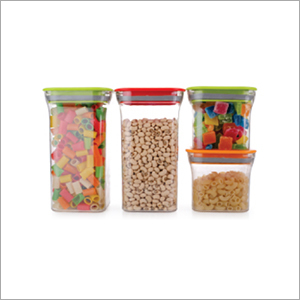 4 pcs Set Square Plastic Container