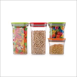 4 pcs Set Square Plastic Container