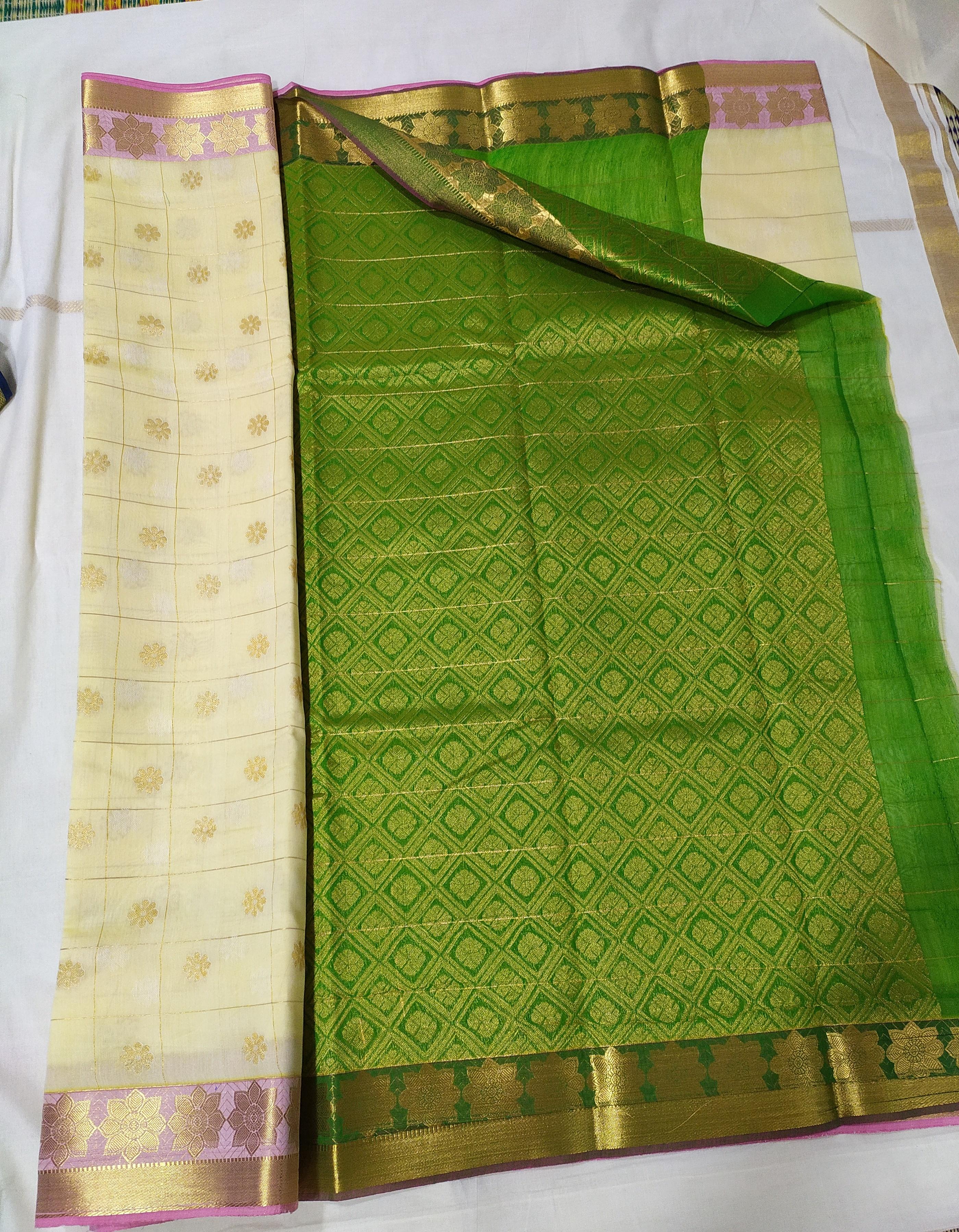 Silk Cotton Designer Sarees