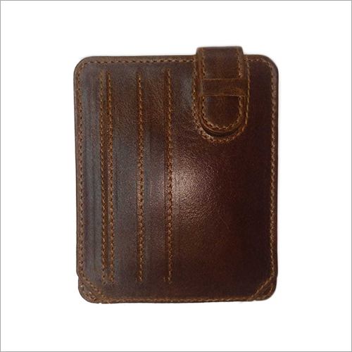 Mens BI Fold  Brown Leather Wallets
