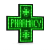 Pharmacy Plus Sign LED Scrolling Display