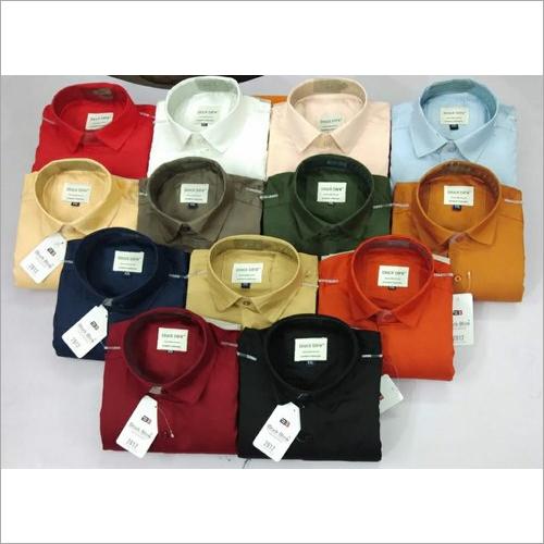 Cotton Twill Plain Shirt