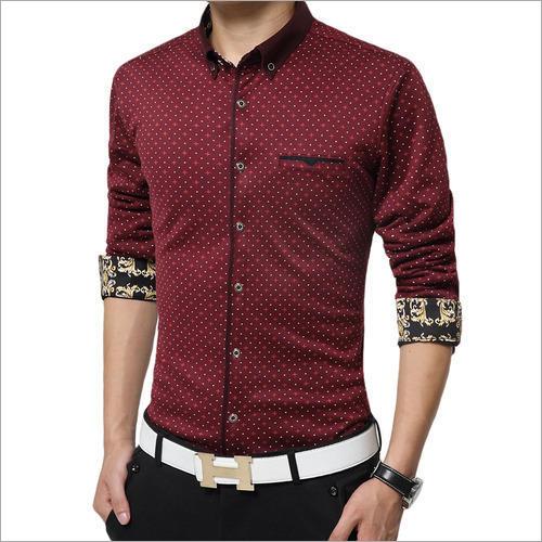 Polka Dot Printed Formal Shirt