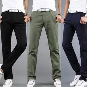 Mens Double Cloth Lycra Trousers