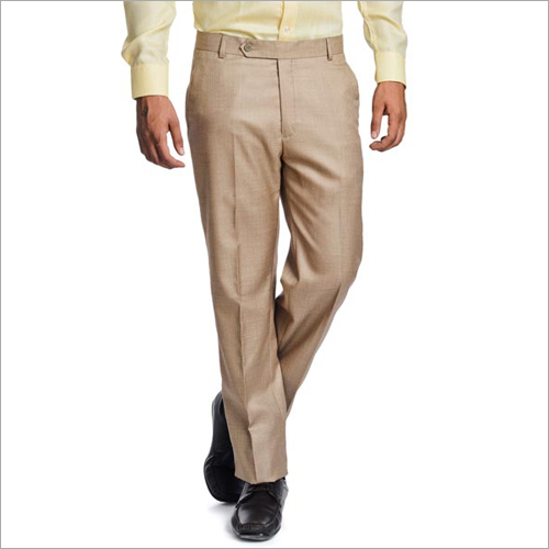 Mens Plain Formal Trousers