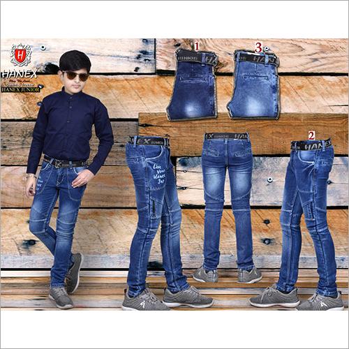Boys Designer Denim Blue Jeans