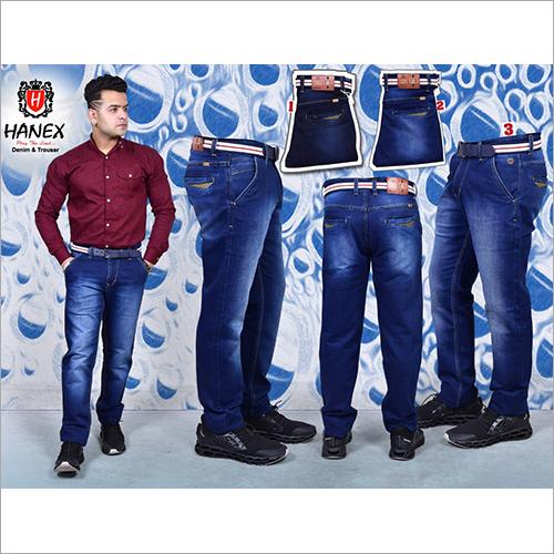 Mens Stretchable Plain Denim Jean