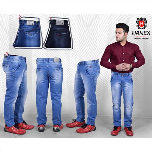 Mens Straight Denim Jeans