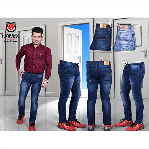 Mens Dual Shade Denim Jeans