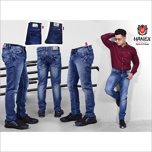 Mens Ankle Length Denim Jeans