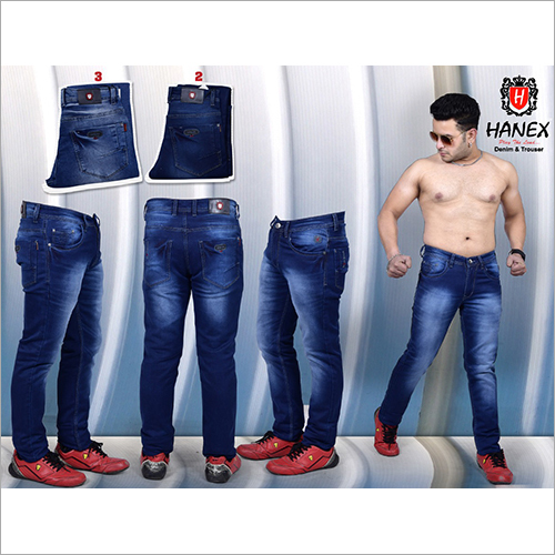 Men Dual Shade Blue Stretchable Jeans
