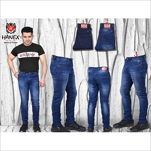 Mens Straight Fit Blue Denim Jean