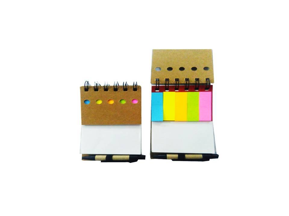 mini half cut note pad with one pen